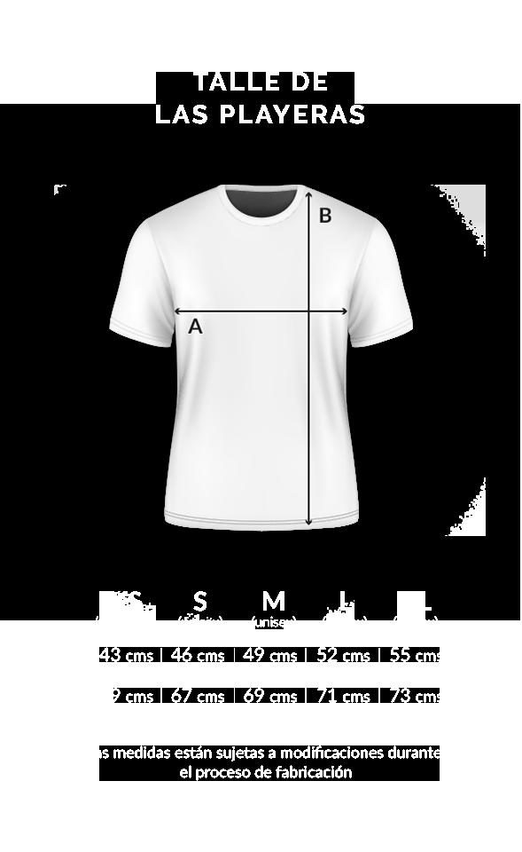 Tamanhos camiseta